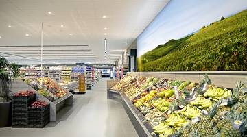 LED-Bilderrahmen Referenz - Supermarkt