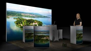 LightWall Beispiel Messestand isyWALL 120 LED Bodensee