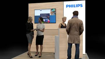 LightWall Beispiel Messestand isyWALL 120 LED Philips