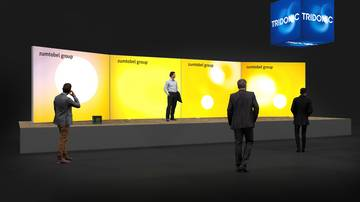 LightWall Beispiel Messestand isyWALL 120 LED Zumtobel