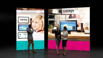 LightWall Beispiel Messestand isyWALL 120 LED Copago